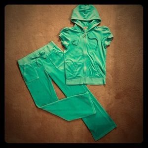 Juicy Couture velour pants and hoodie set.  Size M